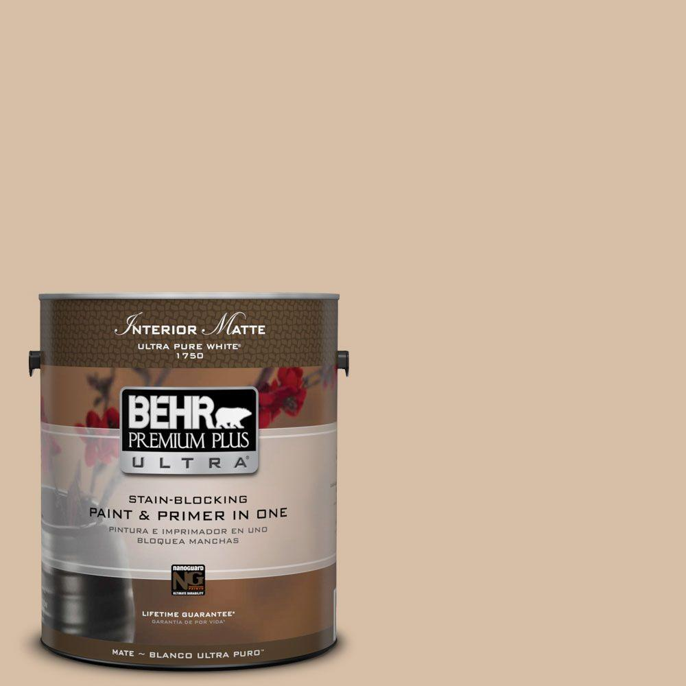 1 gal. #HDC-SM14-3 Concept Beige Matte Interior Paint