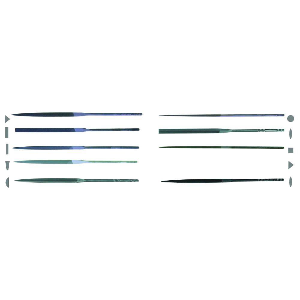 5-1/2 in. X.F Swiss Pattern Needle File Assortment Set - Cut 2