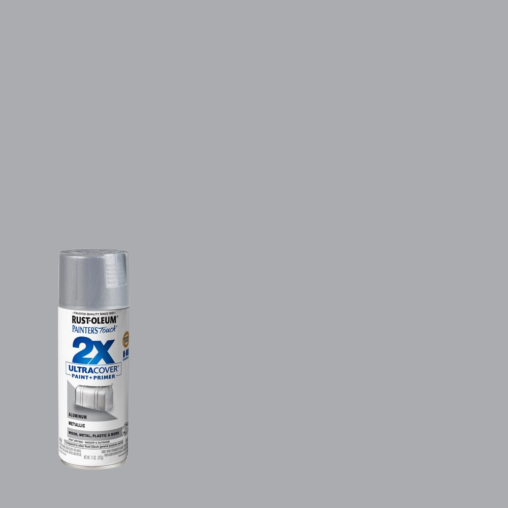 Rust-Oleum Painter's Touch 2X 12 oz. Gloss Aluminum General Purpose Spray Paint