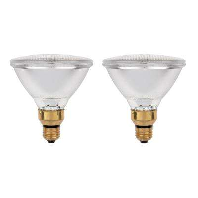 70-Watt Halogen PAR38 Eco-PAR Clear Flood Medium Base Reflector Light Bulb (2-Pack)