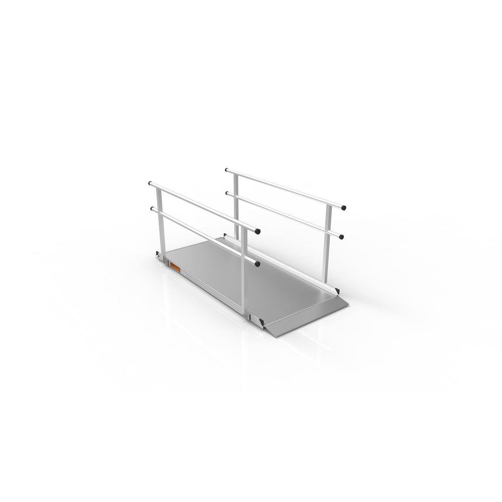 Gateway 7 ft. Aluminum Portable Ramp with Handrails