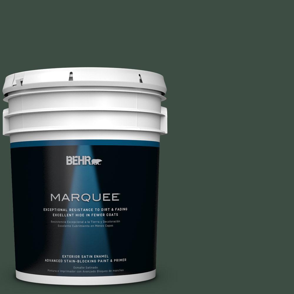 BEHR MARQUEE 5-gal. #ECC-45-3 Conifer Satin Enamel Exterior Paint