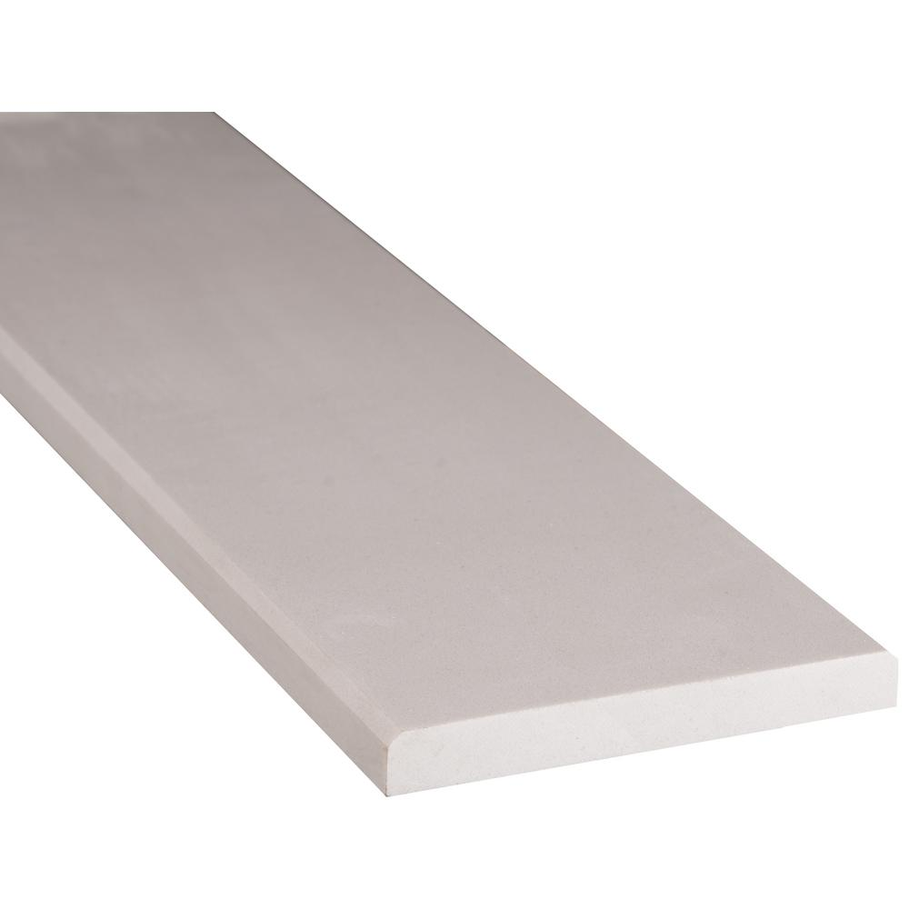 MSI White Double Bevelled 6 in. x 36 in. Engineered Marble Threshold Floor and Wall Tile