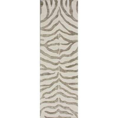 Zebra Stripes Gray 3 Ft X 10 Runner