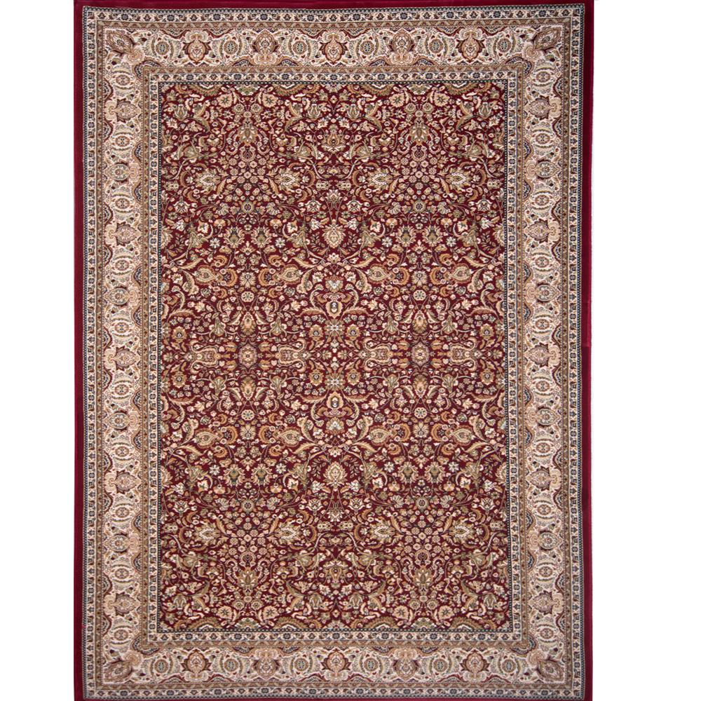 Home Dynamix Super Kashan Red 7 ft. 10 in. x 10 ft. 2 in. Indoor Area Rug