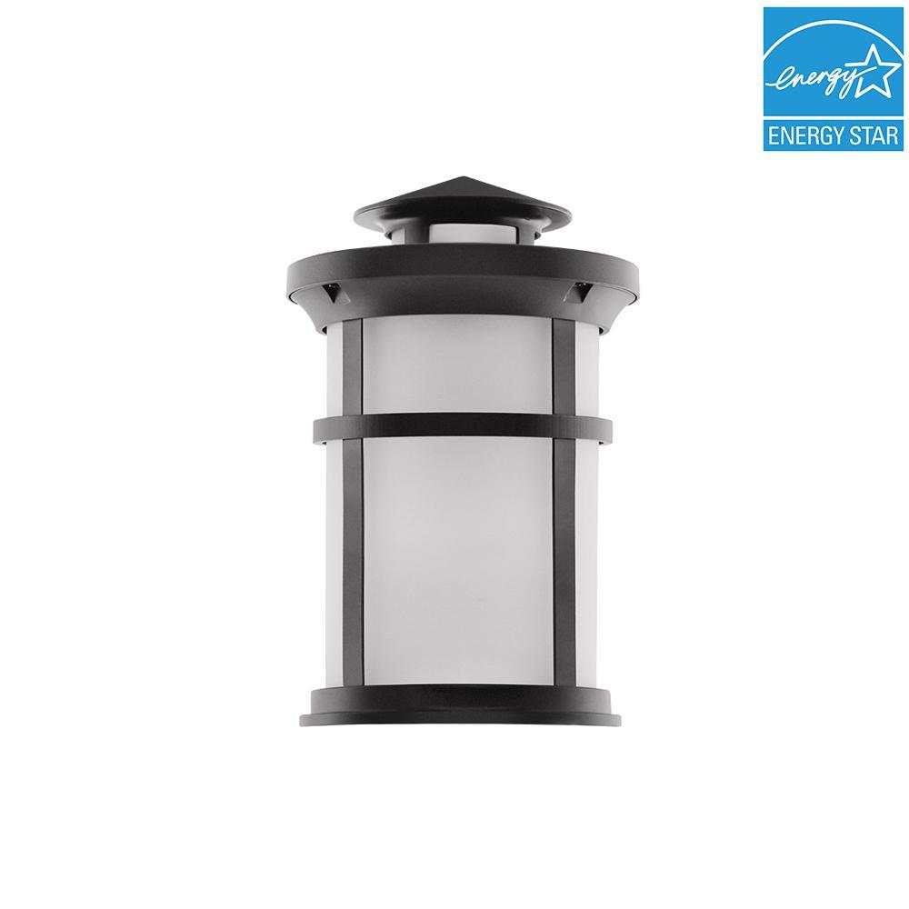 1-Light Matte Black Outdoor Wall Mount Lantern
