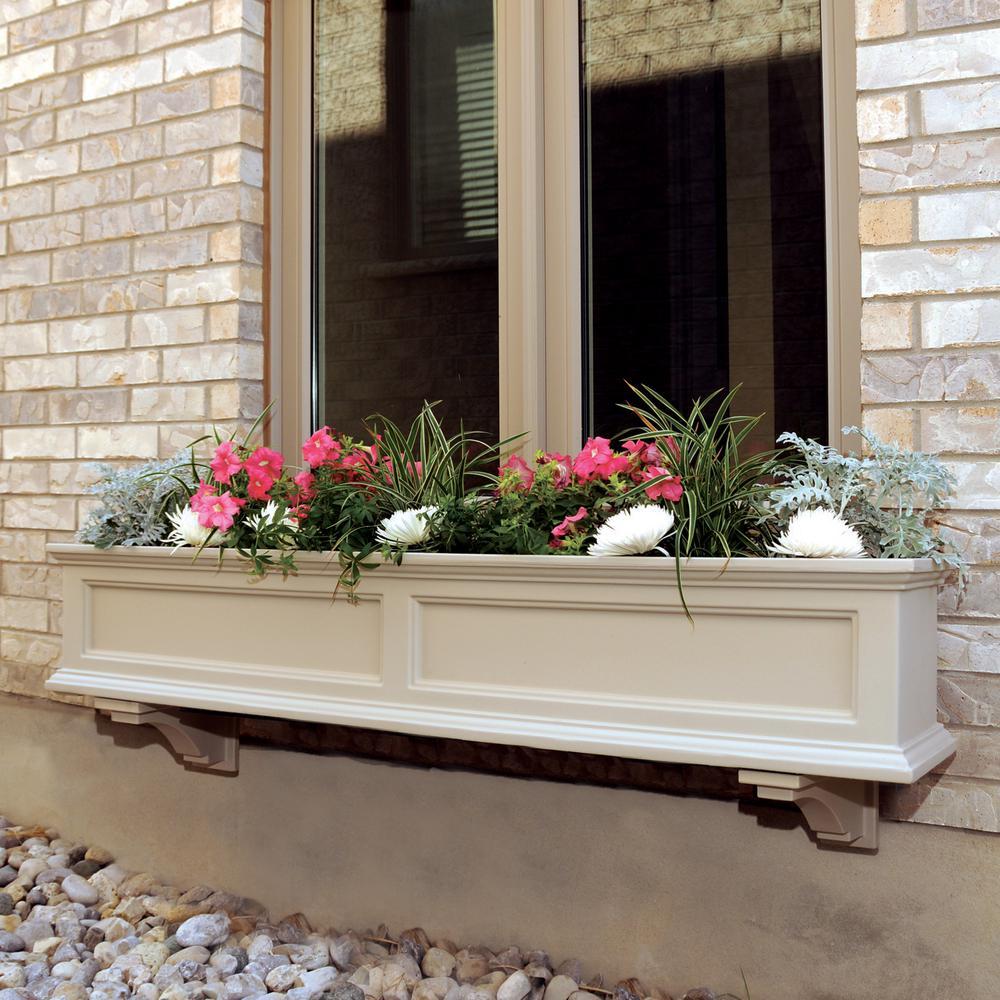 Window Box Planter Ideas: Mayne Fairfield 11 In. X 60 In. Plastic Window Box-5824C