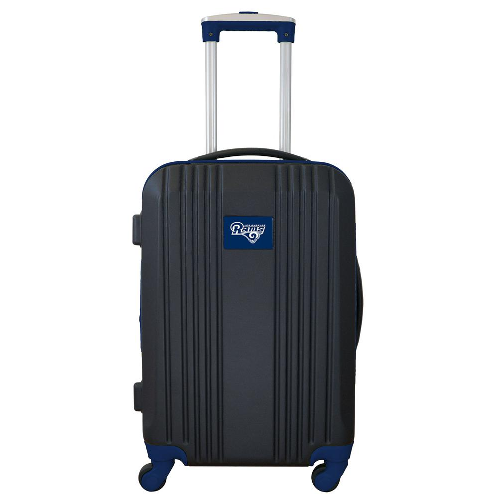 NFL Los Angeles Rams Navy 21 in. Hardcase 2-Tone Luggage Carry-On