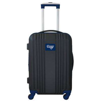 NFL Los Angeles Rams Navy 21 in. Hardcase 2-Tone Luggage Carry-On Spinner Suitcase