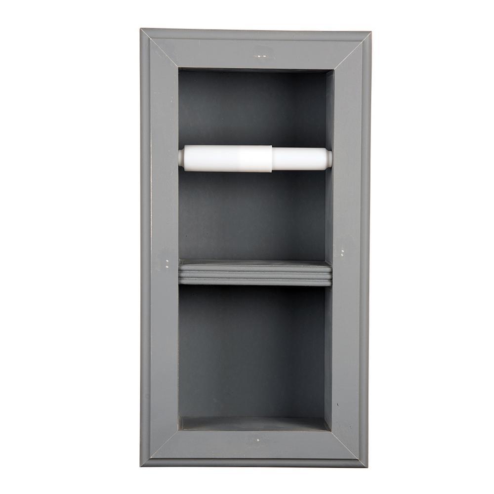 Newton Recessed Toilet Paper Holder 22 In Primed Vertical Wall Hugger Frame Gray