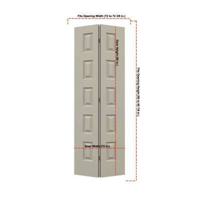 36 in. x 80 in. Rockport Desert Sand Painted Smooth Molded Composite MDF Closet Bi-fold Double Door