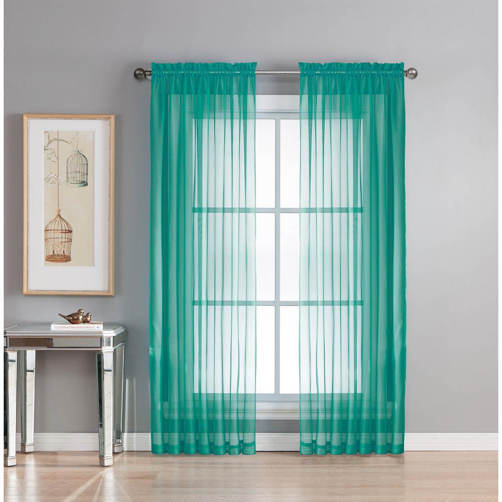 Window Elements Sheer Sheer Elegance 84 In L Rod Pocket