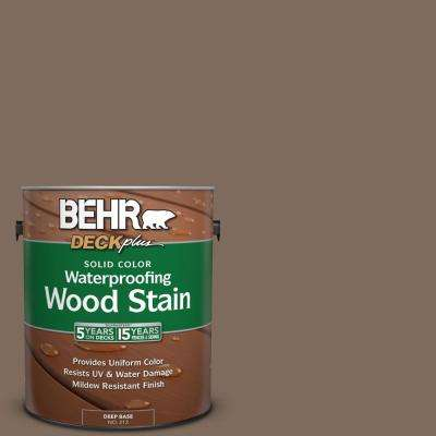 1 gal. #PPU5-3 Antique Earth Solid Color Waterproofing Exterior Wood Stain