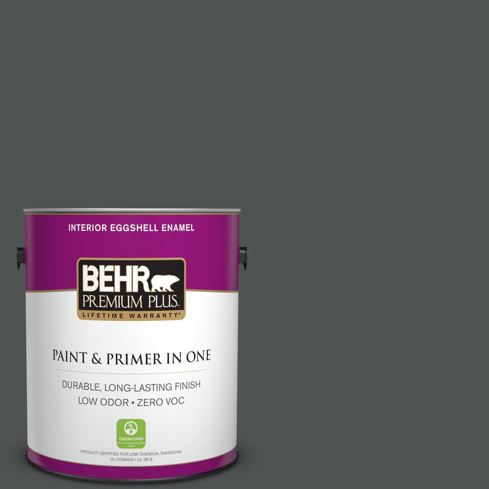1 gal. #PPU25-01 Carbon Copy Zero VOC Eggshell Enamel Interior Paint