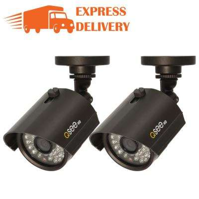Wired 1080p Indoor or Outdoor Bullet Standard Surveillance Camera with 100 ft. Night Vision (2-Pack)