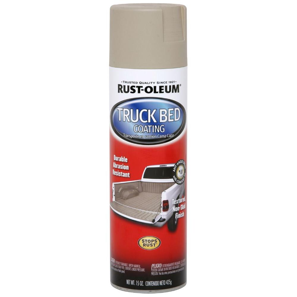 Rust-Oleum Automotive 15 oz. Professional Grade Tan Truck Bed Coating Spray Paint & Primer in One (6-Pack)