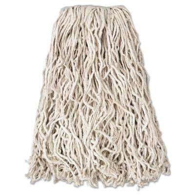 Economy 20 oz. Cut-End Cotton Wet Mop Head with 1 in. Band in White (12/Carton)