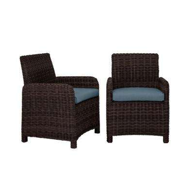 Northshore Patio Dining Chair with Denim Cushions (2-Pack) -- CUSTOM