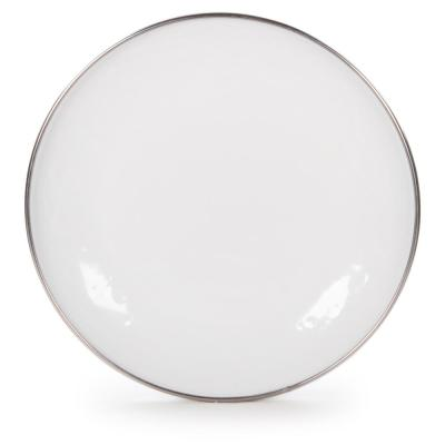 Solid White 5.75 in. Enamelware Round Bread and Butter Plate