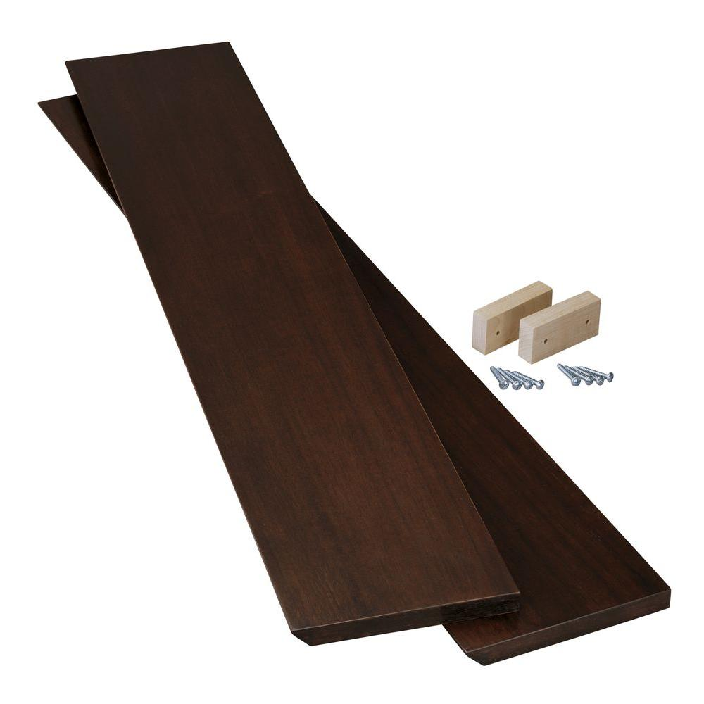 KOHLER Purist 36 in. H Wood End Cap Kit for Purist Mirrored Cabinet in Black Walnut-DISCONTINUED