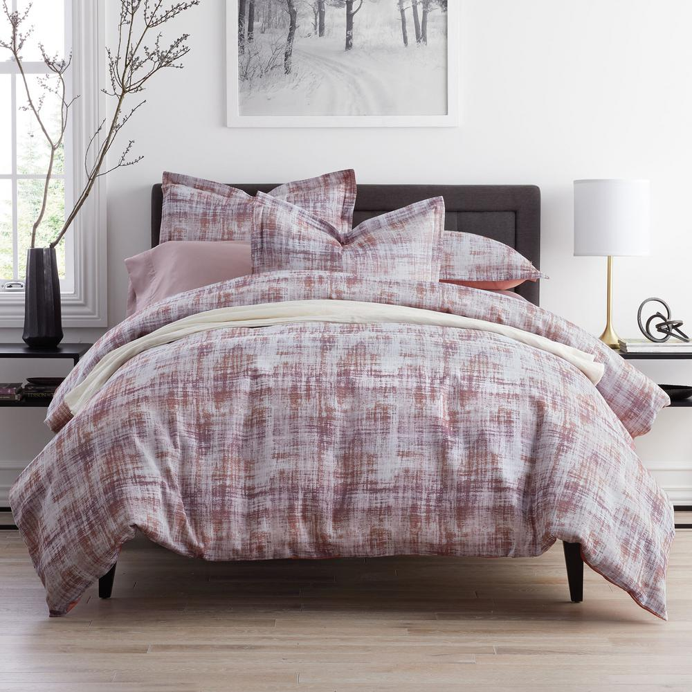 Innis Multicolored Geometric Reversible Cotton King Duvet Cover