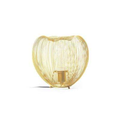 Pansy 9 in. Brass Table Lamp