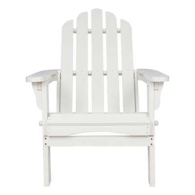 Marina White Folding Cedar Wood Adirondack Chair