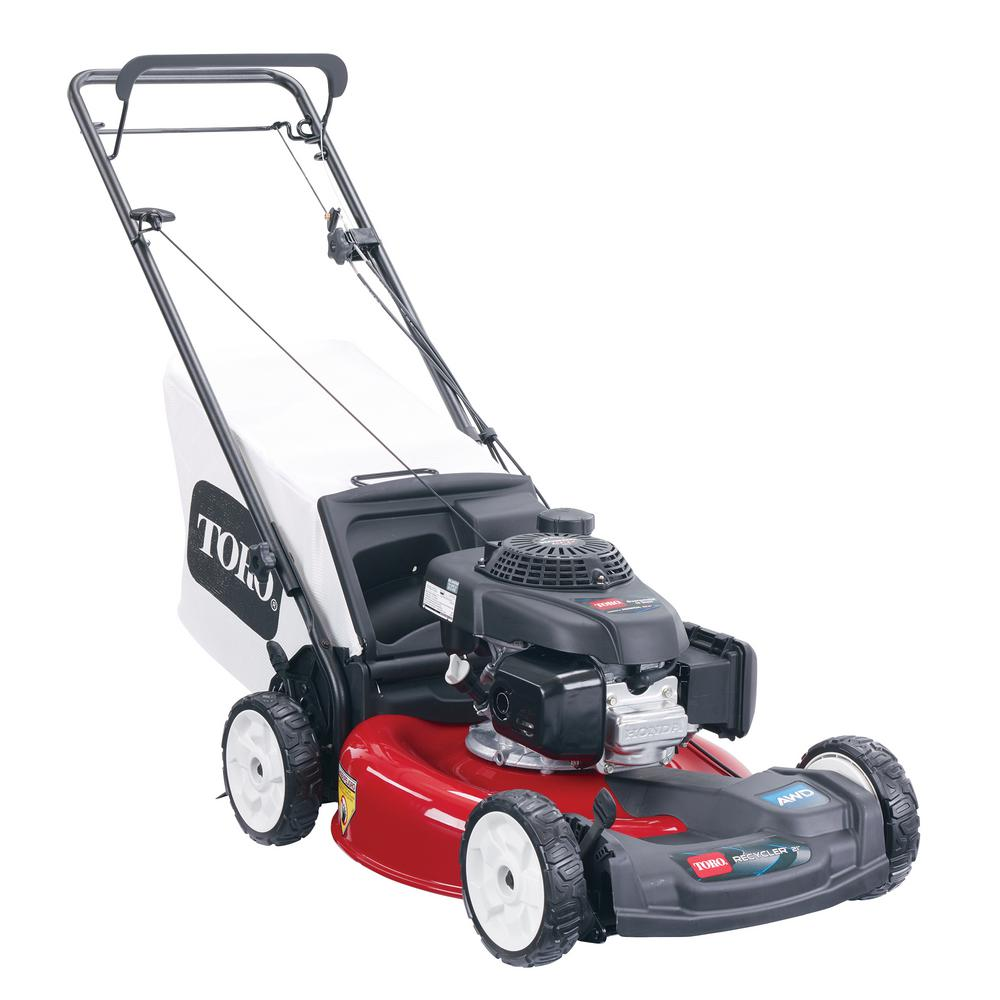 Toro Recycler 21 in. High Wheel Variable Speed Gas Walk Behind Self Propelled Mower with Honda GCV 160 cc OHC Engine