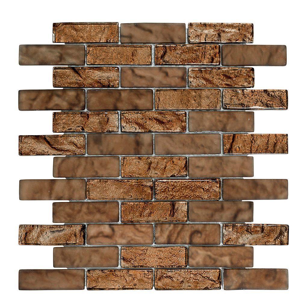 Belgian Foil 12 in. x 12 in. x 8 mm Glass Mosaic Wall Tile