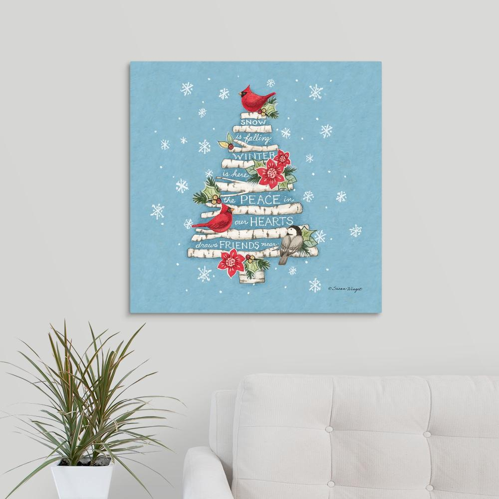 Christmas Tree By Susan Winget Canvas Wall Art