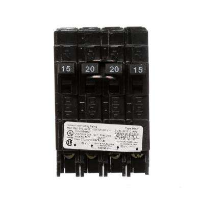 20 Amp Double-Pole and (2) 15 Amp Single-Pole Type MH-T Triplex Circuit Breaker