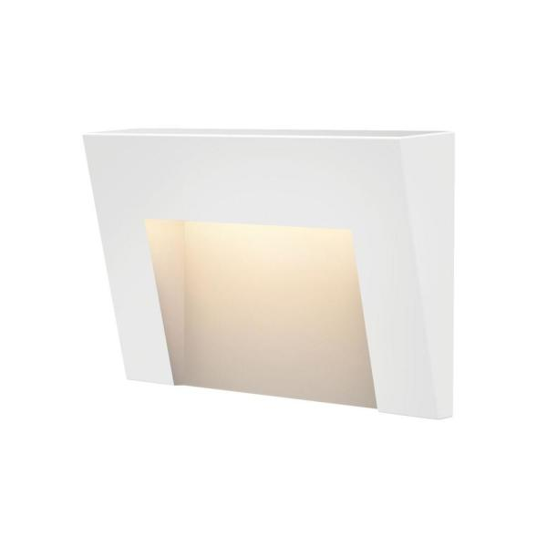 Taper Low-Voltage Satin White Integrated LED Horizontal Stair Light