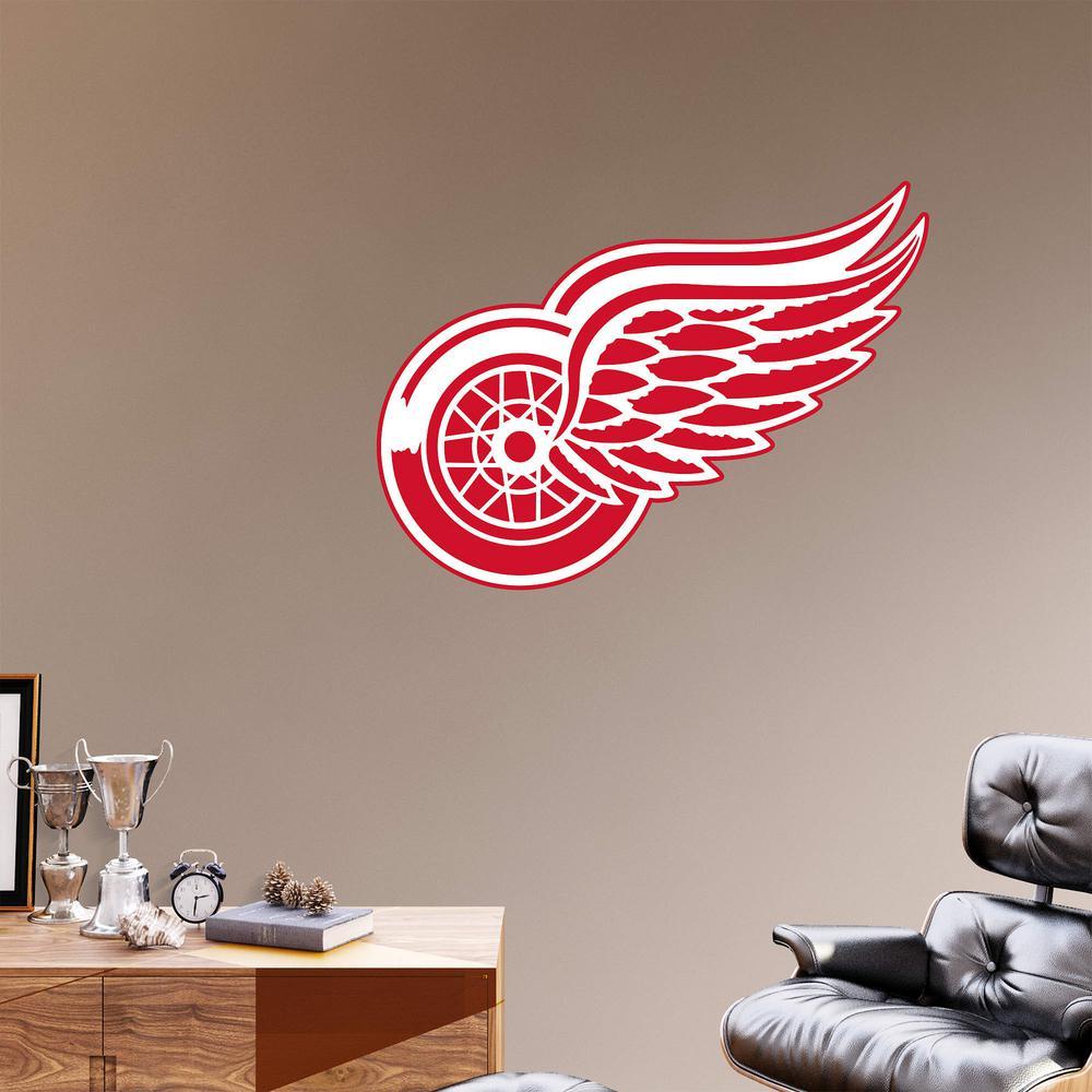 Fathead 38 in. H x 51 in. W Detroit Red Wings Logo Wall Mural-64 ... d13dd343a