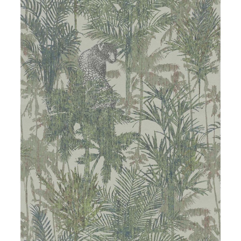 Blue & Green Hidden in the Jungle Wallpaper
