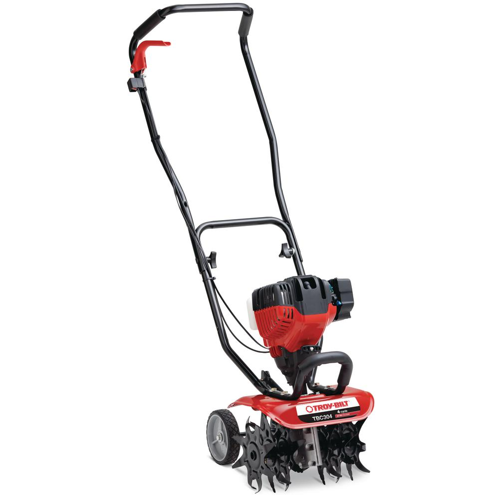 Troy Bilt TBC304 12in 30cc 4-Cycle Gas Cultivator with Adjustable Cultivating Widths