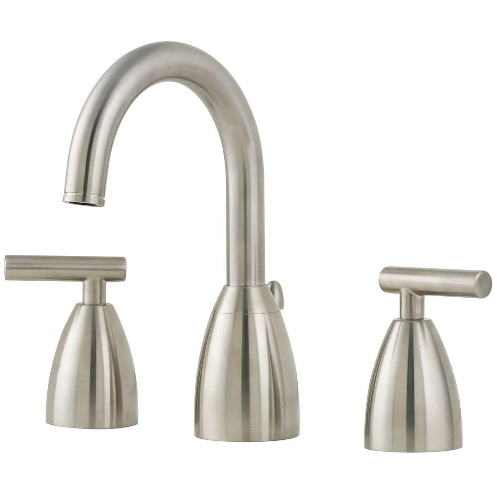 Pfister contempra 8 in widespread 2 handle high arc for 8 widespread bathroom faucet chrome