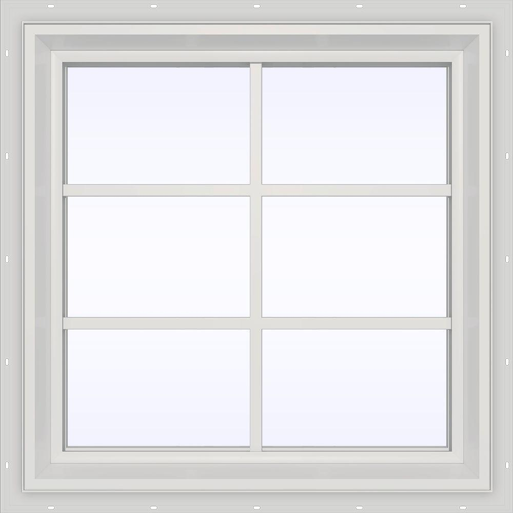Tafco windows 24 in x 29 in utility fixed picture vinyl for All window replacements