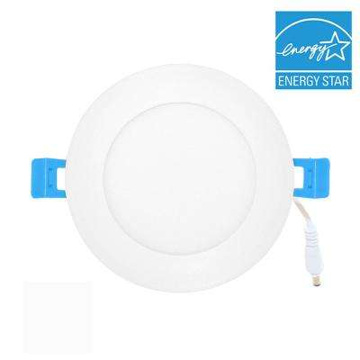 Ultra-Thin 4 in. White (5000K) Integrated LED Downlight Recessed Trim