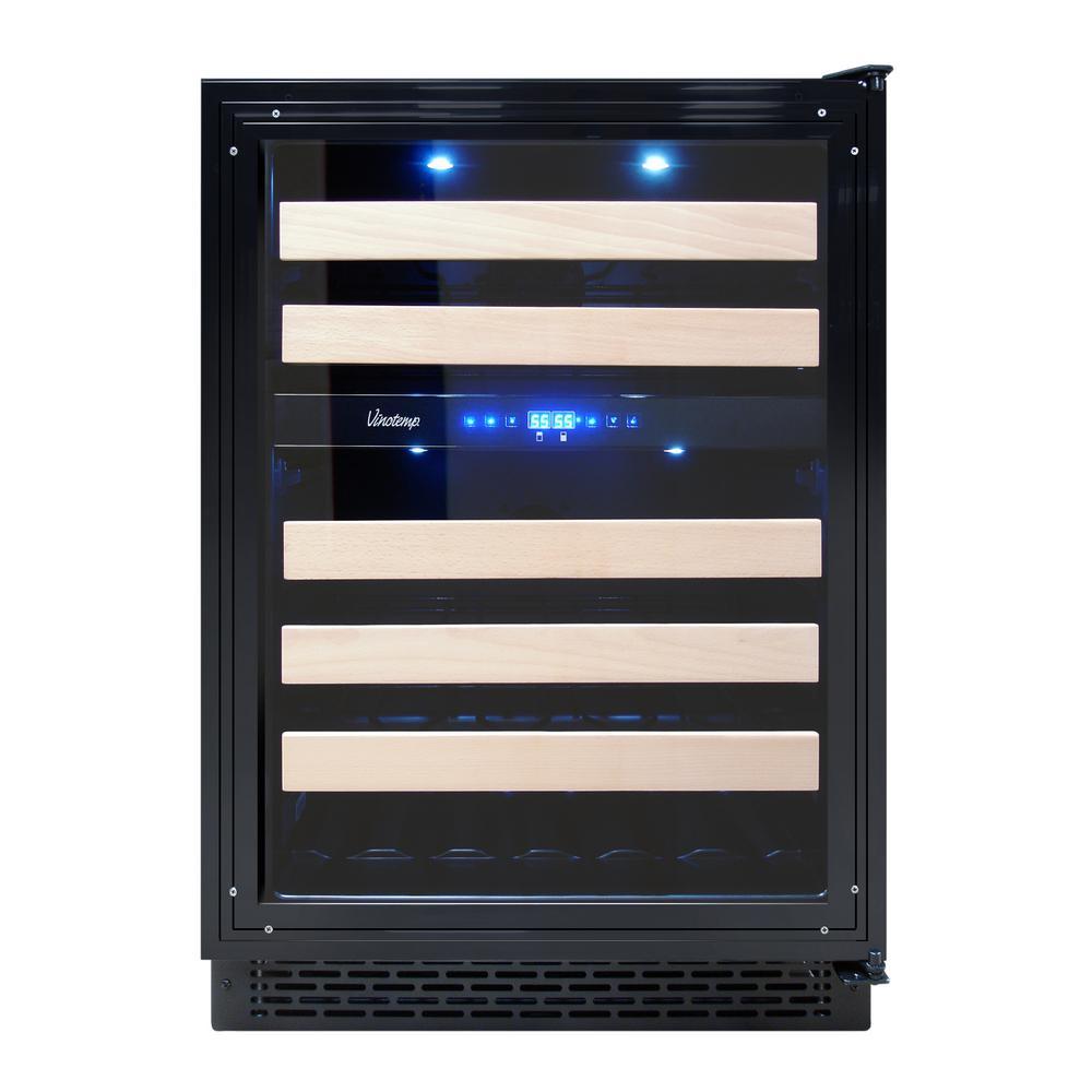 Vinotemp Dual Zone 23 4 In 46 Bottle Panel Ready Built Wine Cooler