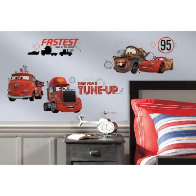 5 in. x 11.5 in. Cars Friends to the Finish Peel and Stick Wall Decal