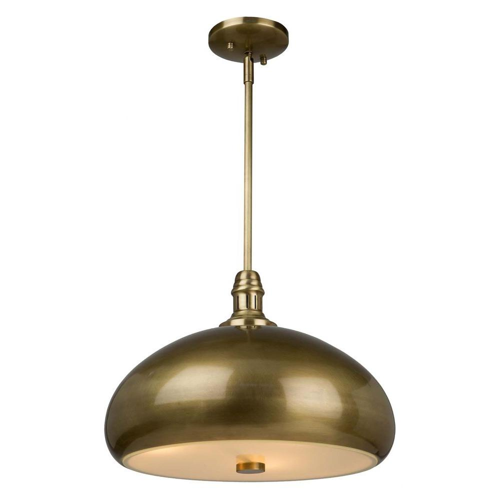 Frobenius 3-Light Burnished Bronze Pendant