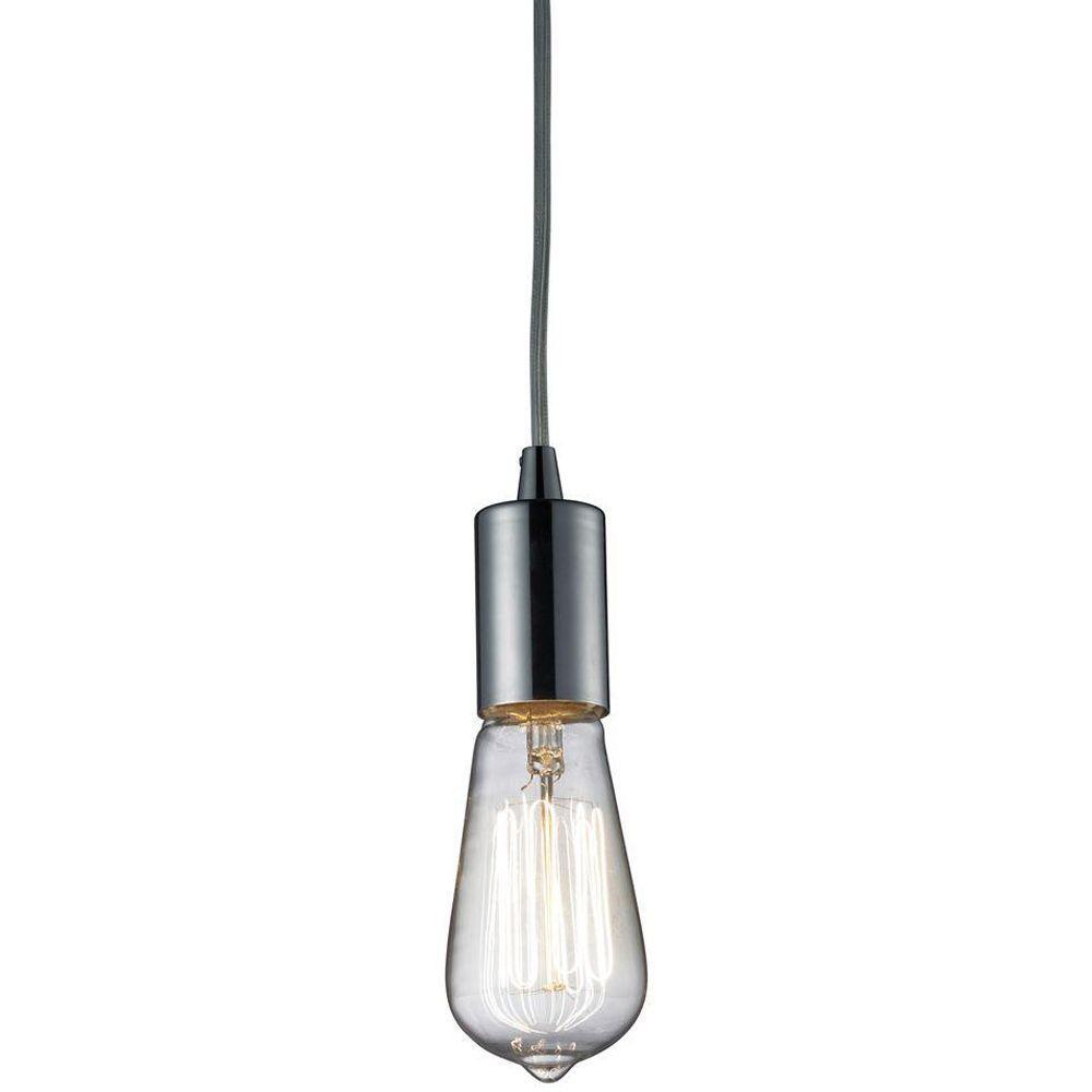 Titan Lighting Menlow Park 1-Light Polished Chrome Ceiling Mount Pendant