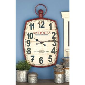 33 In X 19 Antique Reproduction Style Wall Clock