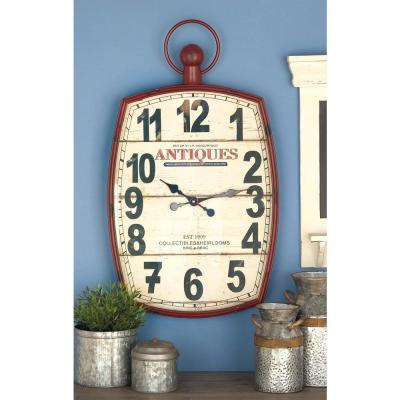 33 in. x 19 in. Antique Reproduction Style Wall Clock