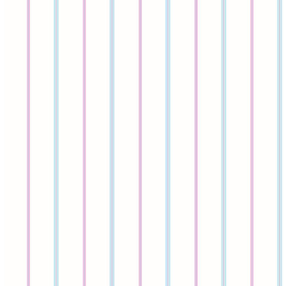 White Little Tailor Pinstripe Wallpaper Sample