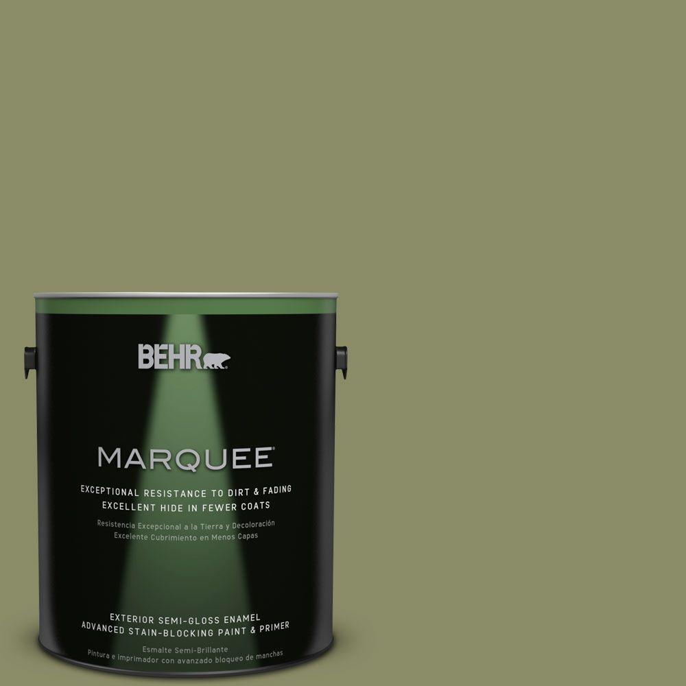 BEHR MARQUEE 1-gal. #S360-5 Yogi Semi-Gloss Enamel Exterior Paint