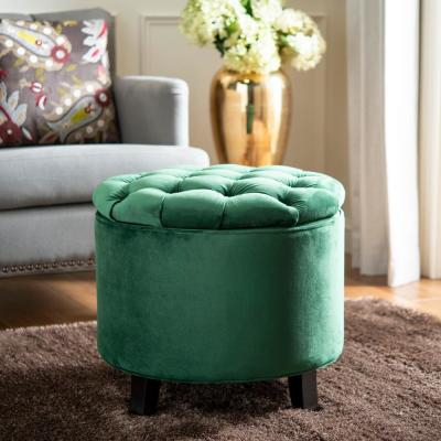 Tremendous Round Green Ottoman Ottomans Living Room Furniture Evergreenethics Interior Chair Design Evergreenethicsorg