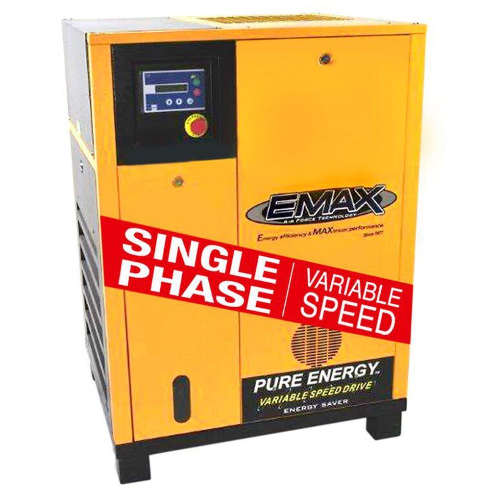 emax premium series 20 hp electric rotary screw air compressor