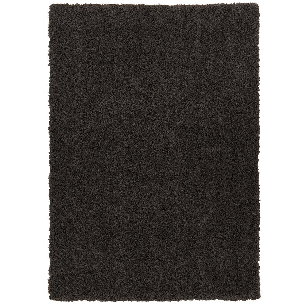 Berrnour Home Plush Solid Shaggy Dark Grey 5 ft. x 7 ft. Shag Area Rug, Dark Gray was $75.33 now $56.5 (25.0% off)