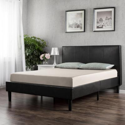 Gerard Faux Leather Platform Bed Frame, Twin
